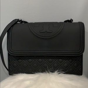 Tory Burch Matte Black Fleming